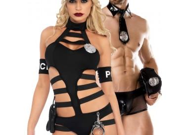 Carnevale Coppia - Costume Da Poliziotta Undercover Cop & Cop Costume Man Roleplay