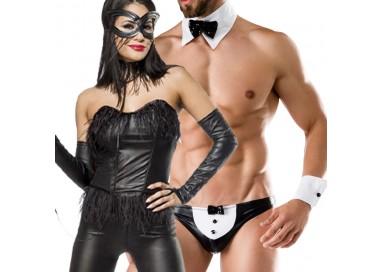 Carnevale Coppia - Bunny Costume & Costume da Maggiordomo Sexy