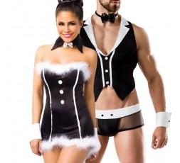 Sexy Shop Online I Trasgressivi - Carnevale Coppia - Costume Da Coniglietta Sexy & Barkeeper Costume Man Roleplay