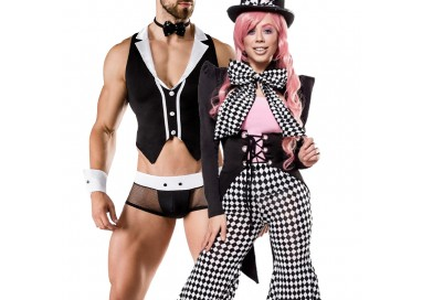 Carnevale Coppia - Costume Da Honey Bunny & Barkeeper Costume Man Roleplay