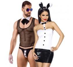 Sexy Shop Online I Trasgressivi - Carnevale Coppia - Costume Sexy Da Coniglietta & Butler Costume Man Roleplay