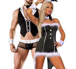 Sexy Shop Online I Trasgressivi - Carnevale Coppia - Costume Sexy Da Coniglietta & Barkeeper Costume Man Roleplay