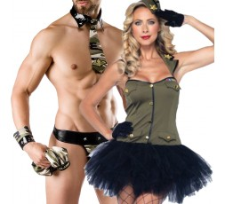 Sexy Shop Online I Trasgressivi - Carnevale Coppia - Costume da Soldatessa & Army Costume Man Roleplay