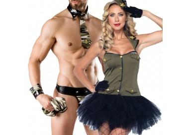 Carnevale Coppia - Costume da Soldatessa & Army Costume Man Roleplay