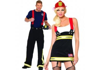 Carnevale Coppia - Costume Da Sexy Pompiere & Costume da Pompiere