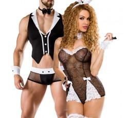 Sexy Shop Online I Trasgressivi - Carnevale Coppia - Costume Nero Da Coniglietta Sexy Roleplay & Barkeeper Costume Man Roleplay