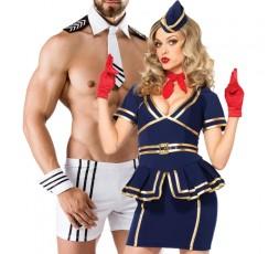 Sexy Shop Online I Trasgressivi - Carnevale Coppia - Costume d'Assistente Di Volo & Captain Costume Man Roleplay