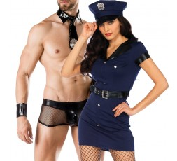 Sexy Shop Online I Trasgressivi - Carnevale Coppia - Costume da Wonderland Arresting Officer Dress & Cop Costume Man Roleplay