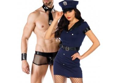 Carnevale Coppia - Costume da Wonderland Arresting Officer Dress & Cop Costume Man Roleplay