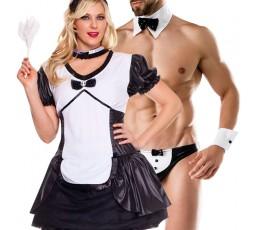 Sexy Shop Online I Trasgressivi - Carnevale Coppia - Costume da Cameriera Sexy & Da Maggiordomo Sexy