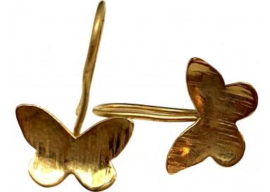 Bigiotteria Uomo - Orecchino Farfalla Pendente