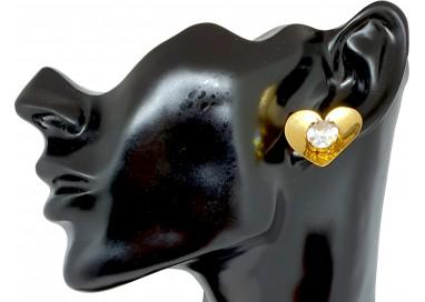 Bigiotteria Donna - Orecchino Cuore con Diamante
