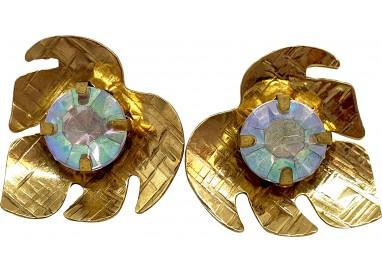 Bigiotteria Uomo - Orecchino Foglia con Diamante