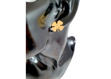 Bigiotteria Uomo - Orecchino Quadrifoglio con Spirale