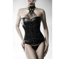 Sexy Shop Online I Trasgressivi - Abbigliamento in Pelle - Corsage with Brief - Grey Velvet