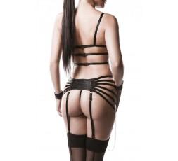 Sexy Shop Online I Trasgressivi - Sexy Lingerie - Four-part Garter Bandage Set - Grey Velvet