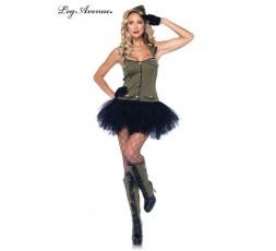 Sexy Shop Online I Trasgressivi - Costume Sexy Per Carnevale - Costume da Soldatessa - Leg Avenue