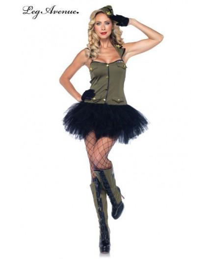 Sexy Shop Online I Trasgressivi - Carnevale Donna - Costume da Soldatessa - Leg Avenue