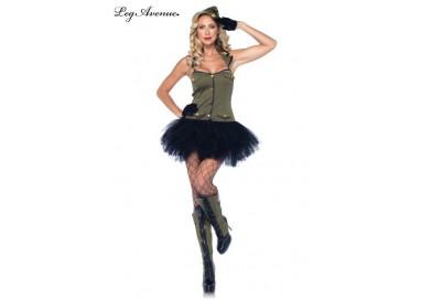 Carnevale Donna - Costume da Soldatessa - Leg Avenue