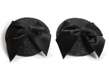 Accessori Vari - Burlesque Pasties Glitter & Bow - Bijoux Indiscrets