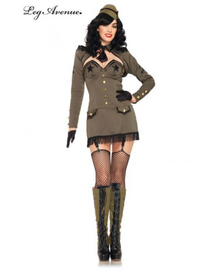 Costume  da Soldatessa - Pin Up Army Girl