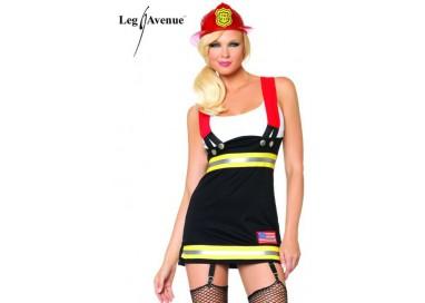 Carnevale Donna - Costume Da Sexy Pompiere - Leg Avenue