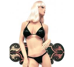 Sexy Shop Online I Trasgressivi - Costume Mare Bikini Donna - Bikini Nero Plastificato Brillante - Ivete Pessoa