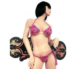 Sexy Shop Online I Trasgressivi - Costume Mare Bikini Donna - Bikini Rosa con Stampa Sirena - Ivete Pessoa