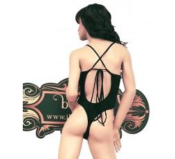 Sexy Shop Online I Trasgressivi - Trikini Donna - Trikini Nero con Inserti a Elastico Rosa, Viola e Giallo - Ivete Pessoa