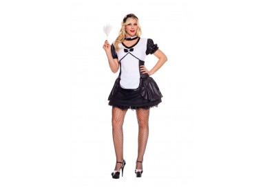 Carnevale Donna - Costume da Cameriera Sexy - Music Legs