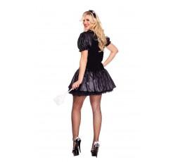 Sexy Shop Online I Trasgressivi - Carnevale Donna - Costume da Cameriera Sexy - Music Legs
