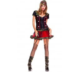 Sexy Shop Online I Trasgressivi - Costume Sexy Per Carnevale - Costume Da Soldatessa Sexy - Music Legs