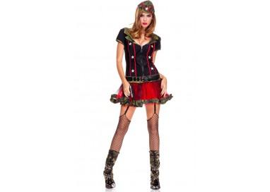 Carnevale Donna - Costume Da Soldatessa Sexy - Music Legs