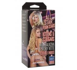 Sexy Shop Online I Trasgressivi - Masturbatore Bocca & Vagina - Mia Malkova & Vicky Vette Skin - Doc Johnson
