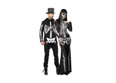 Halloween Coppia - Costume da Skeleton Lady & da Scheletro