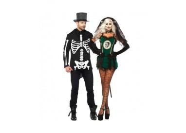 Il consiglio del giorno: Halloween Coppia - Costume da Frankenstein & Da Scheletro