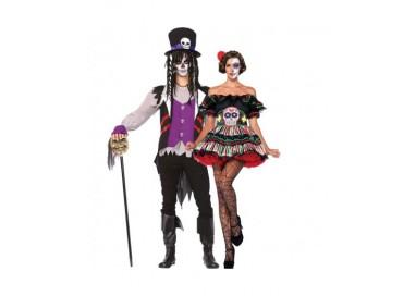 Il consiglio del giorno: Halloween Coppia - Costume da Day Of The Dead Doll & Da Prete Voodoo