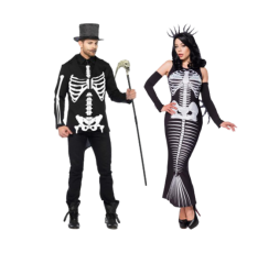 Sexy Shop Online I Trasgressivi - Halloween Coppia - Costume Da Scheletro & Skeleton Mermaid