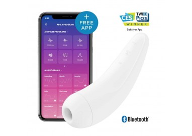 Sex Toy con App - Curvy 2+ White - Satisfyer