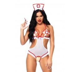 Sexy Shop Online I Trasgressivi - Sexy Lingerie - Roleplay Naughty Nurse White - Leg Avenue