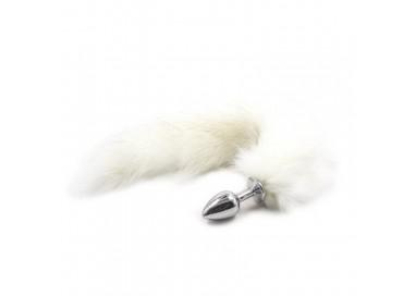 Sexy Shop Online I Trasgressivi - Plug con Coda - Plug Anale con Coda Long Fox Tail Bianca