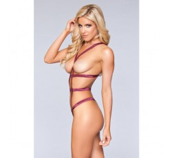 Sexy Shop Online I Trasgressivi - Sexy Lingerie - Body Mariah Bordeaux Red - BeWicked Lingerie