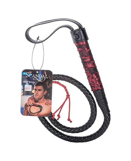 Sexy Shop Online I Trasgressivi - Fruste e Paddle - Scandal Bull Whip Black - California Exotics