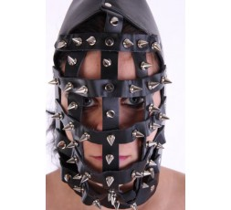 Sexy Shop Online I Trasgressivi - Maschera BDSM - Heavy Spiked Leather Muzzle Hood - Your Fetish World