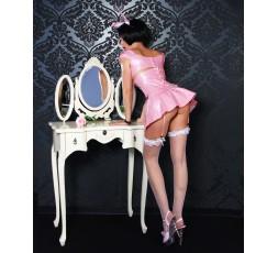 Sexy Shop Online I Trasgressivi - Abbigliamento In Vinile - Set Costume Da Coniglietta 5 Pezzi In Vinile Rosa - Selecta Fashion