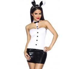 Sexy Shop Online I Trasgressivi - Carnevale Donna - Costume Sexy Da Coniglietta Nero e Bianco - Obsessive