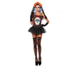 Costume Halloween Donna Sugar Skull Bustier - Leg Avenue