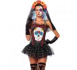Sexy Shop Online I Trasgressivi - Halloween Donna - Costume da Sugar Skull Bustier - Leg Avenue
