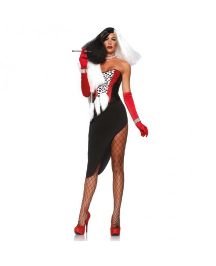 Sexy Shop Online I Trasgressivi - Halloween Donna - Costume Da Diva Crudelia - Leg Avenue