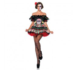 Costume Halloween Day Of The Dead Doll- Leg Avenue